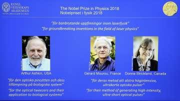Трима учени взеха Нобелова награда за физика за постижения в лазерната наука