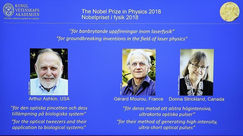Тазгодишната Нобелова награда за физика беше поделена между трима учени