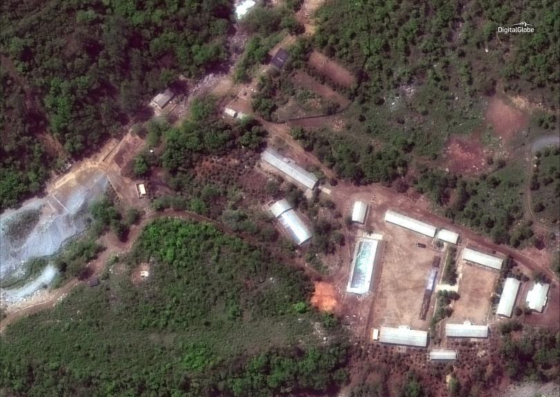 северна корея твърди разрушила ядрения полигон