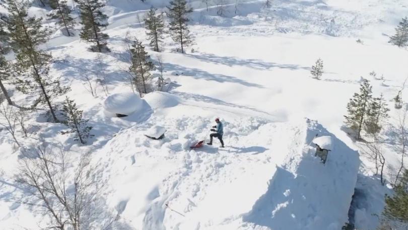 норвежки състезател канадска борба рине сняг дни часа ден