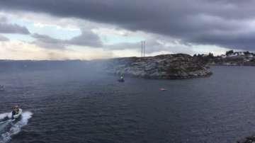 Хеликоптер падна западно от бреговете на Норвегия (СНИМКИ)