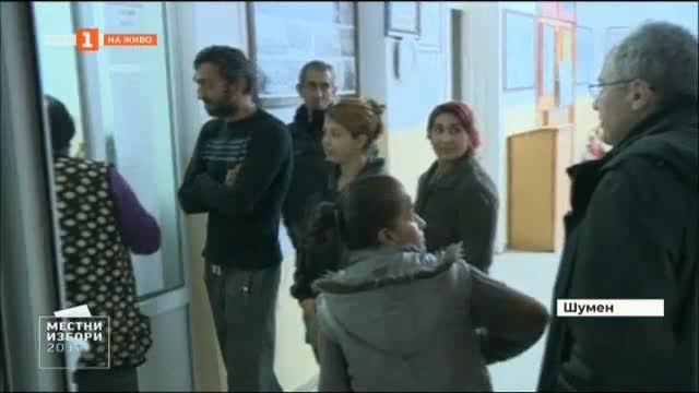 Необичайно движение и струване на хора пред изборните секции в