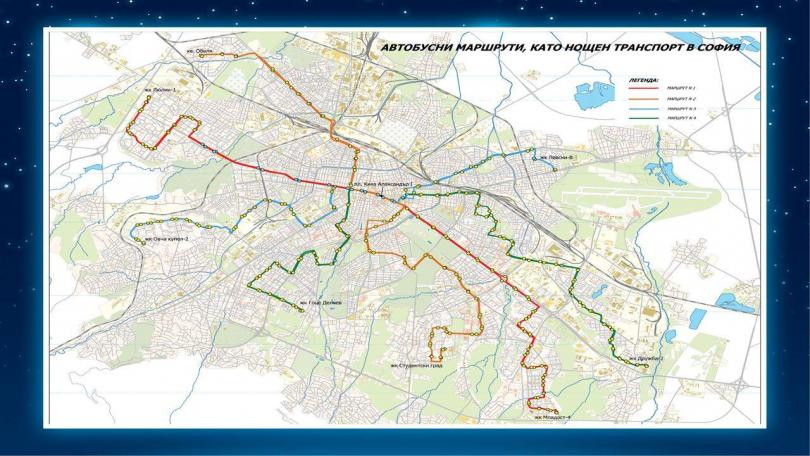 снимка 1 Нощният градски транспорт в София тръгва от 7 април