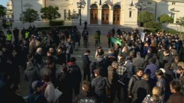 Протест пред парламента за промените в Изборния кодекс