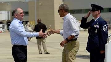 Обама пристигна в засегнатия от големите наводнения щат Луизиана