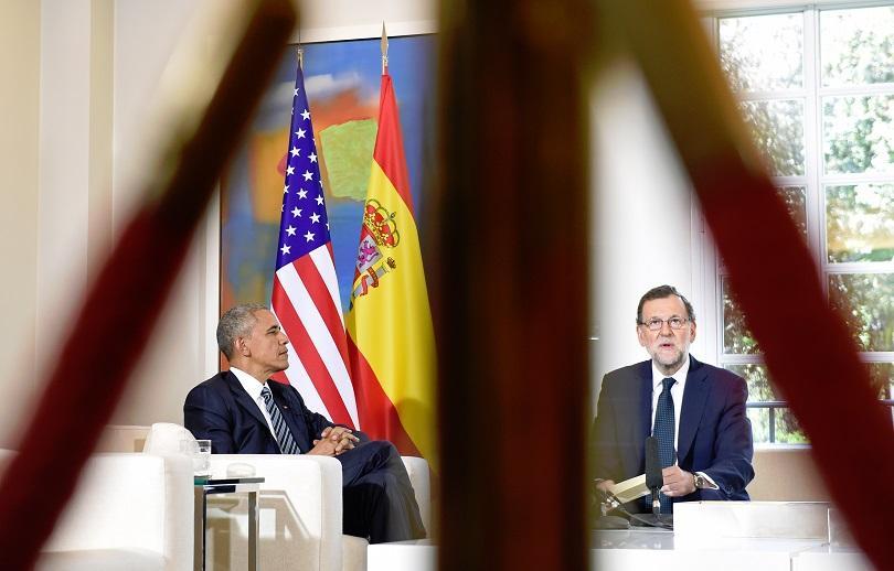 Барак Обама на посещение в Испания