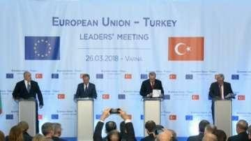 Обща пресконференция след срещата ЕС -Турция във Варна