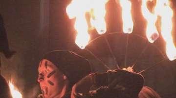 Огнено шоу в Търговище