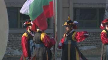 Издигнаха българското знаме в Пьонгчанг