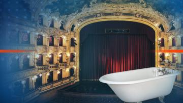 Операта Дон Жуан пред публика във вани