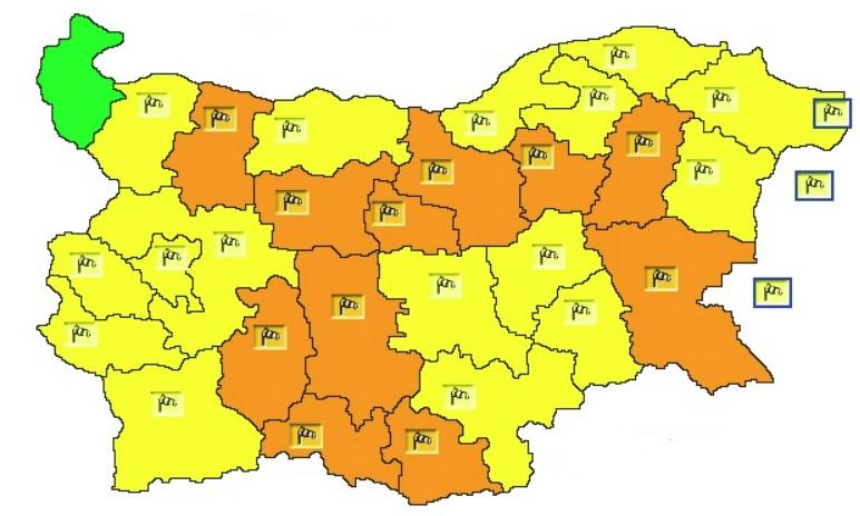 снимка 1 Предупреждение за силен вятър е в сила за почти цялата страна