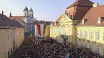Партията на унгарския премиер Орбан проведе последния си предизборен митинг