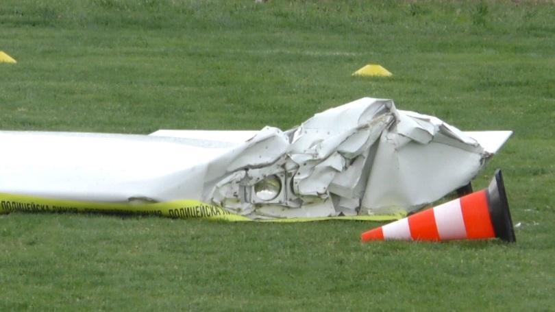 Продължава разследването на инцидента с паднал самолет край Оризари