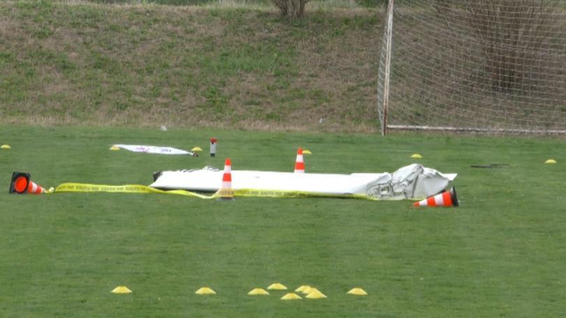 Снимка: Разследват причините за самолетната катастрофа край пловдивското село Оризари