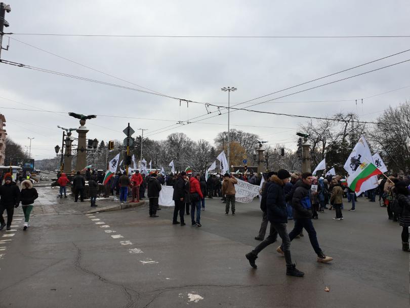 снимка 1 Протест блокира днес ключови кръстовища в столицата