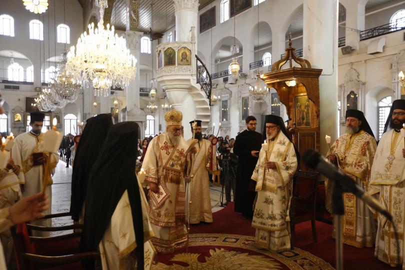 Тържествена литургия за Възкресение Христово беше отслужена от Антиохийския патриарх Йоан в Дамаск, Сирия