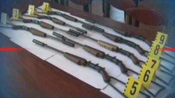 Оръжия и боеприпаси бяха иззети при акция на прокуратурата и полицията в Пордим