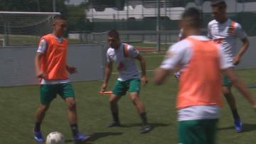 Отборът на надеждата преди участието на Световното по футбол за бездомни