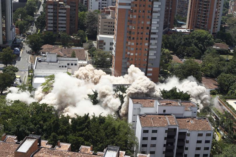 Снимка: Разрушиха дома на наркобарона Пабло Ескобар