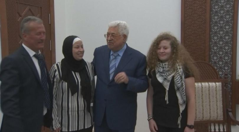 Палестинската тийнейджърка Ахед Тамими, която миналата година беше заснета да