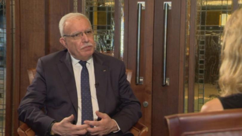 Палестинският външен министър заяви, че не очаква да види американски