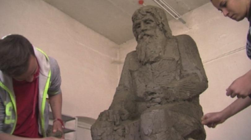 Паметник на дядо Добри, известен с прозвището Светеца от Байлово,