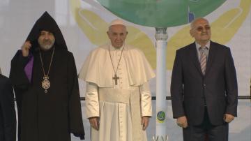От центъра на София: Папа Франциск отправи послание за мир към целия свят
