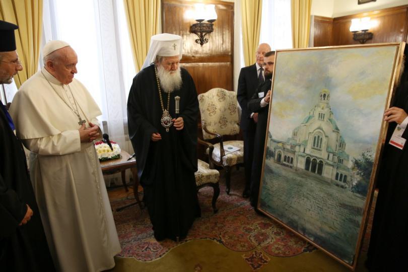 снимка 12 Първият ден от посещението на папа Франциск у нас (СНИМКИ)
