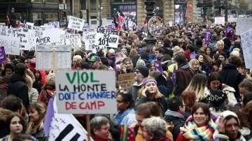 Френското общество се обяви срещу насилието над жени