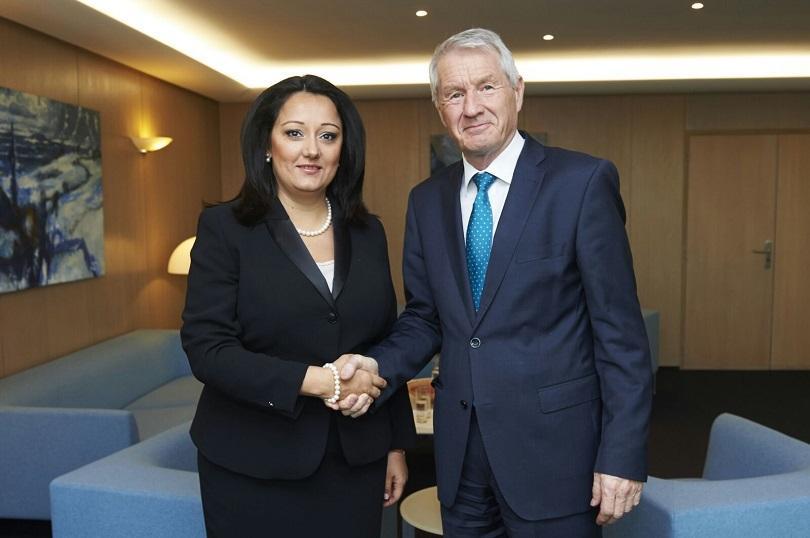 министър павлова срещна генсекретар съвета европа торбьорн ягланд