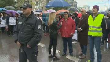 Педиатрите от детската болница в София пак излязоха на протест