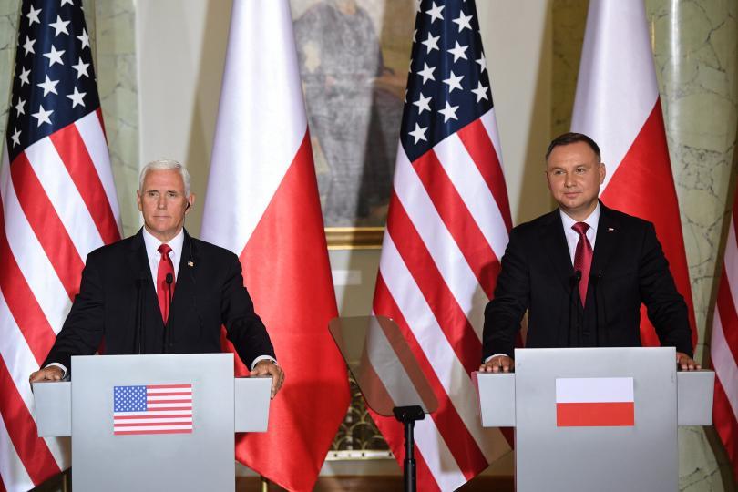 Вицепрезидентът на Съединените щати Майк Пенс обяви, че Полша е