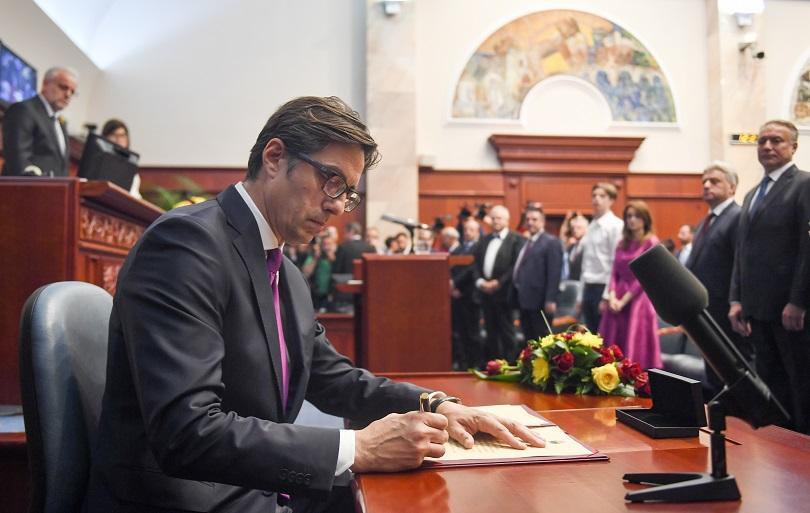 Снимка: Президентът на Северна Македония събра партийните лидери на среща