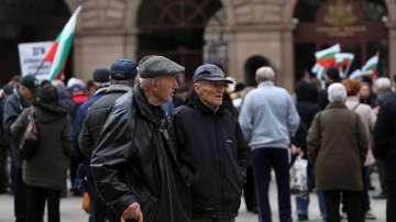Протест на пенсионери пред президентството