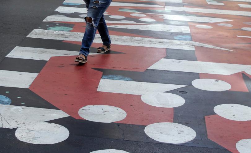снимка 1 София осъмна с нови цветни пешеходни пътеки (СНИМКИ/ВИДЕО)