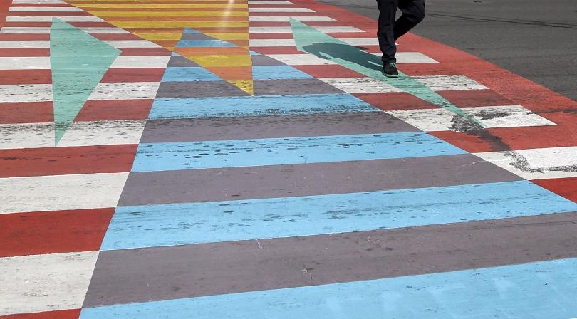 снимка 3 София осъмна с нови цветни пешеходни пътеки (СНИМКИ/ВИДЕО)