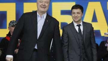 Помпео разговаря с кандидатите за президент на Украйна Порошенко и Зеленски