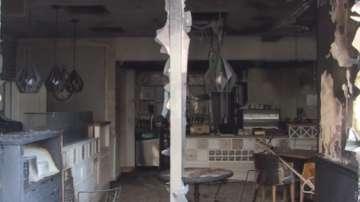 Пожар в пицария в Бургас