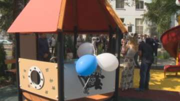 Откриха нова детска площадка в двора на Пирогов от кампания Малките герои