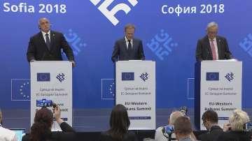 Пресконференция на Борисов, Туск и Юнкер след срещата ЕС-Западни Балкани
