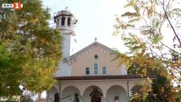 Нов кръст на храма Свети Георги в пловдивското село Белозем