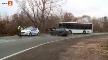 Кола блъсна автобус от градския транспорт в Пловдив