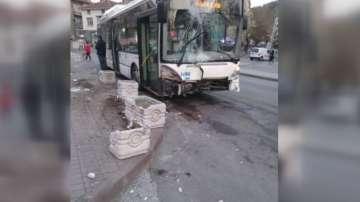 Катастрофа с автобус на градския транспорт в Пловдив, няма пострадали