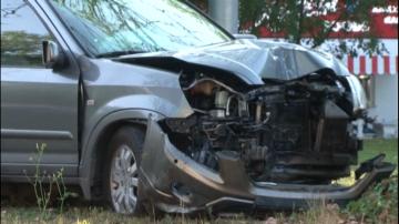 Полицай катастрофира с личния си автомобил до Централна гара в Пловдив