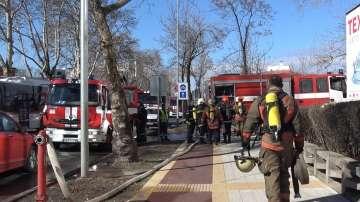 Пожар в шивашки цехове на завод Чайка в Пловдив, няма пострадали