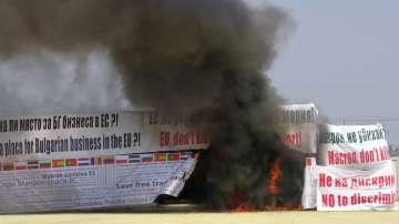 Срещу пакета Мобилност: Превозвачи запалиха тежкотоварен камион в Пловдив