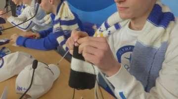 Финландските олимпийци се успокояват с плетене