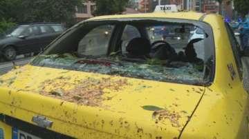 Дърво падна и затисна две таксита в Пловдив
