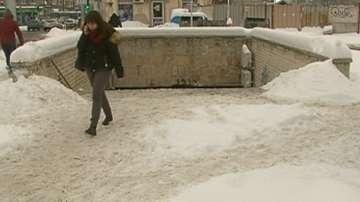 Внимание! Хлъзгави подлези и ледени висулки в Пловдив