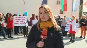 Медицински сестри в Пловдив също излязоха на протест